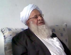 """صورة وصفية للشيخ الفقيد الأستاذ """"يارمحمد رخشانی"""" رحمه الله"""