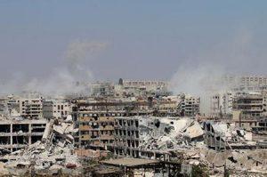 """70 قتيلا على الأقل في """"هجوم كيميائي"""" على دوما في سوريا"""