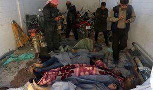 مئات الضحايا بينهم أطفال ونساء بمجزرة خان شيخون