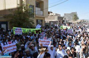 مظاهرات أهل السنة في زاهدان ضد مجازر مسلمي ميانمار