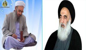 فضيلة الشيخ عبد الحميد يراسل آية الله السيستاني حول قضايا العراق ومشكلات أهل السنة في إيران