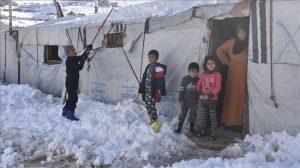 """عرسال اللبنانية.. وضع النازحين السوريين بعد عاصفة """"نورما"""" سيئ جدا"""