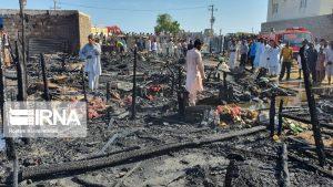 """حريق في """"تشابهار"""" يشرد عشرات العائلات"""