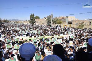 مظاهرات لأهل السنة في زاهدان تنديدا بالإساءة إلى الرسول الكريم