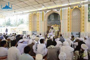 "حضرت عثمان ""حیا""، ""پاکدامنی""، ""سخاوت"" و ""عبادتِ"" تھا په گرداں نمونہ انت"