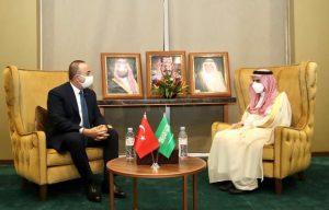 عربستان ۆ ترکیهءِ ڈنّے کاران وزیران گوں وت گند ۆ نند کرت