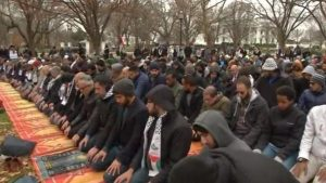 Muslims pray outside White House in protest against Trump's Jerusalem move