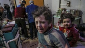 35 dead including children in air raids on Syria's Douma