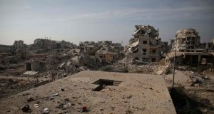 Airstrikes hit opposition areas west of Syria's Aleppo, monitor says