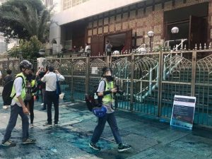 Hongkongers Volunteer to Clean Mosque Hit with Blue Dye Water