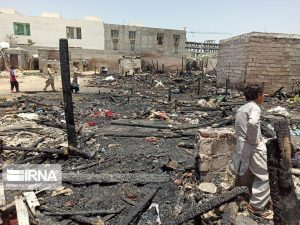 A Fire in Iranian Baluchistan Left Dozens Homeless