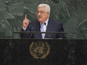 Palestine's Abbas calls on UN to arrange international conference next year
