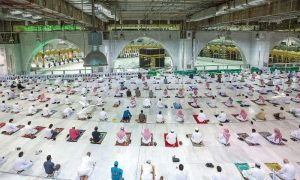 Congregational prayers resume at Mecca's Grand Mosque