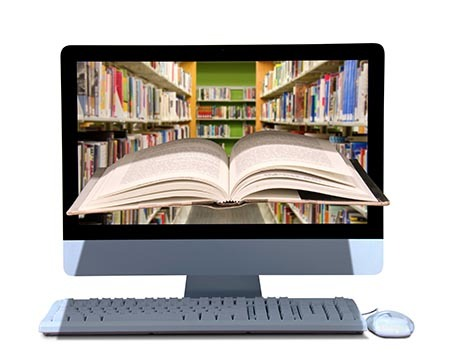 Online library e-book research
