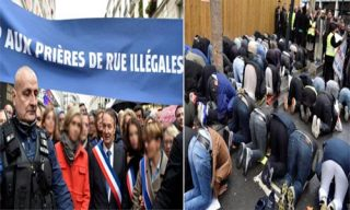 افراطیون در پاریس نماز جمعه مسلمانان را برهم زدند