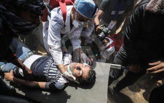 59 شهید و 2700 زخمی در تظاهرات اعتراضی مردم فلسطین