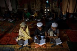 قرآنآموزی کودکان روهینگیایی در اردوگاهها