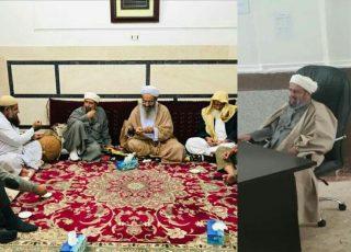 دیدار شیخ محمدعلی امینی با اساتید و طلاب دارالعلوم زاهدان