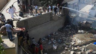 سقوط مرگبار هواپیمای مسافربری پاکستان در کراچی