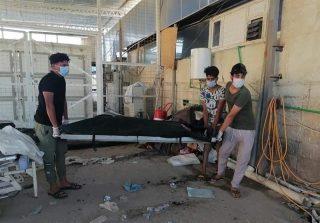 آتشسوزی در بخش کرونای بیمارستانی در عراق ۹۲ کشته بر جای گذاشت