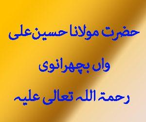 حضرت مولانا حسین علی واں بچھرانوی رحمۃ اللہ تعالی علیہ