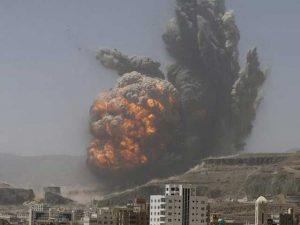 اتحادی افواج کی یمن میں حوثی باغیوں کے ٹھکانوں پربمباری، 90 افراد ہلاک