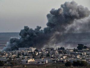 شامی اور روسی فوج کی بمباری سے 53 شہری جاں بحق