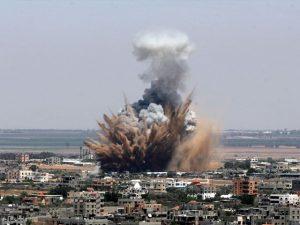 اسرائیلی فضائیہ کی غزہ میں شہری آبادی پر بمباری