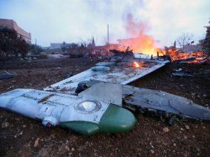 انتقامی کارروائی میں اِدلب پر روسی بم باری ، ہواباز کی لاش واپس لینے کی کوشش