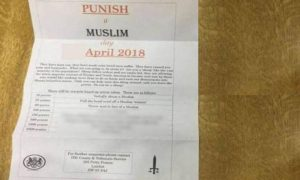 مسلم مخالف پمفلٹس کی تقسیم،برطانوی مسلمان خوف کی کیفیت میں