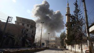 مشرقی الغوطہ میں جنگ بندی کی کوششوں کے باوجود فضائی حملے جاری ،37 افراد ہلاک