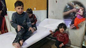 شامی فوج کا غوطہ میں کیمیکل بم حملہ، 100 افراد جاں بحق اور ایک ہزار زخمی