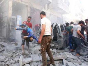 شام میں اتحادی افواج کی بمباری میں 12 شہری جاں بحق