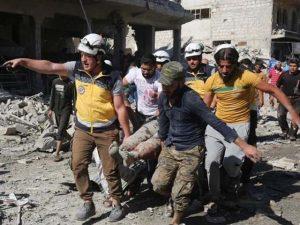 شام میں اتحادی افواج کی فضائی بمباری میں 43 افراد جاں بحق اور 100 زخمی