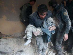 شام میں بمباری سے 7 بچوں سمیت 14 شہری جاں بحق