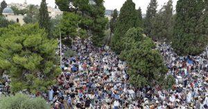 فلسطینیوں نے مسجد اقصیٰ میں نماز عید پراسرائیلی پابندی مسترد کردی