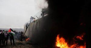 'سنچری ڈیل' کے خلاف فلسطین میں یوم الغضب، ایک شہید، دسیوں زخمی، گرفتار