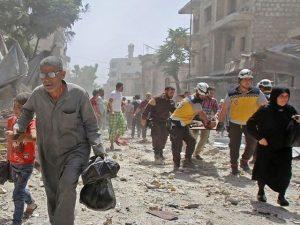شامی فوج کی اسکول پر بمباری میں اساتذہ اور بچوں سمیت 20 افراد جاں بحق