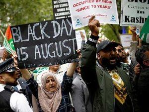 بھارت کے یوم آزادی پر دنیا بھر میں احتجاج، کشمیریوں نے یوم سیاہ منایا
