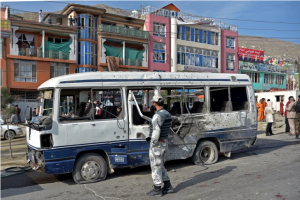 Three killed, 11 wounded as Afghan gov't bus bombed in Kabul
