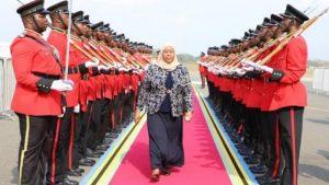 Samia Suluhu swear in as Tanzania first female President after Magufuli death