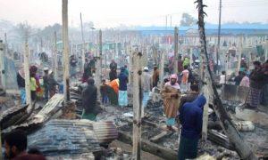 روہنگیا مہاجر کیمپوں میں آتشزدگی، ہزاروں گھر خاکستر