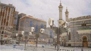 مسجد الحرام میں ماحول کو خوش گواررکھنے کےلیے 250 اسپرے پنکھے نصب